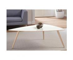 andas Design Couchtisch »stick« mit Massivholzgestell, weiß, white oak Laminat weiß