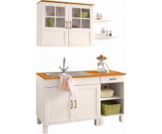 Küchenblock »Alby« Breite 150 cm, weiß, weiß-honigfb.