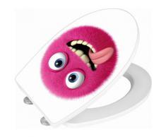 Wenko WC-Sitz Hochglanz Acryl Monster, Absenkautomatik, Fix-Clip Hygiene Befestigung, bunt, Mehrfarbig