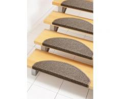 Stufenmatte, »Carransa«, Andiamo, stufenförmig, Höhe 10 mm, maschinell getuftet, braun, Unisex, braun