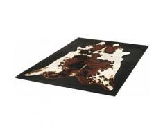 Designteppich, »Kuhfell-Teppich Moss«, Hanse Home, rechteckig, Höhe 9 mm, maschinell gewebt, schwarz, schwarz-braun-natur
