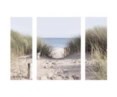 Eurographics Wandsticker-Set »Come to the Beach«, 70/50 cm, blau, blau/grün/braun