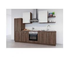 set one by Musterring Küchenzeile »Turin« ohne E-Geräte, Breite 290 cm, natur, Nussbaum maron