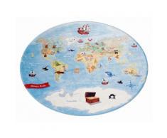 Kinderteppich, »Lovely Kids 413«, Böing Carpet, rund, Höhe 6 mm, gedruckt, bunt, bunt
