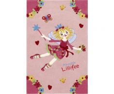 Kinder-Teppich, Prinzessin Lillifee, »LI-2936-01«, handgetuftet, Konturenschnitt, rosa, rosa