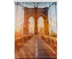 Seitenzugrollo, Lichtblick, »Brooklyn Bridge«, Klemmfix, Kettenzug, Lichtschutz, Fixmaß, ohne Bohren, orange, orange