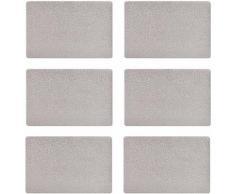 Zeller Present Platzset, 28,5 x 43,5 cm, »Metallic« (6tlg.), silberfarben, Unisex, silberfarben