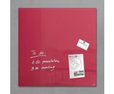 Sigel Glas-Magnettafel 48x48 cm, rot, beerenrot