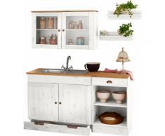 Küchenblock »Föhr«, 150 cm breit (5-tlg.), weiß, weiß-honigfarben
