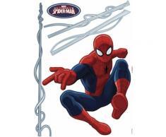 Komar, Wandtattoo, »Spider-Man«, rot, rot/blau
