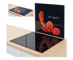 Zeller Present Herdblende-/Abdeckplatte »Hummer«, schwarz, 56 x 50 cm, schwarz, Unisex, schwarz, rot
