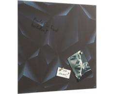 Sigel Glas-Magnettafel, schwarz, black diamond