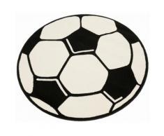 Kinderteppich, »Fußball«, Hanse Home, rund, Höhe 10 mm, maschinell gewebt, weiß, weiß