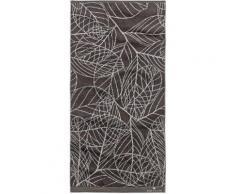 Handtücher, Tom Tailor, »Leaves«, mit Blatt-Motiven, grau, anthrazit