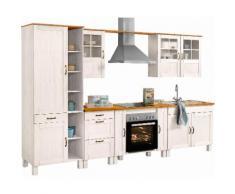 Küchenblock »Alby« Breite 325 cm, weiß, weiß-honigfb.