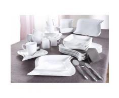 CreaTable Milch-/Zucker-Set, Porzellan, »Ocean« (2-teilig), weiß, Unisex