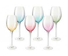 Weingläser-Set, Glas, bunt, Unisex