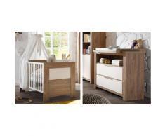 Spar-Set: Babybett und Wickelkommode »Granny«, in stirling oak/ anderson pine, braun, stirling oak/ anderson pine