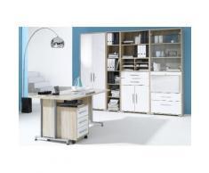 Maja Möbel Büromöbel-Set (6-tlg.) »1201«, weiß, Sonoma-Eiche - weiß Hochglanz