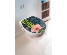 Wenko WC-Sitz Hochglanz Acryl Spa, Absenkautomatik, Fix-Clip Hygiene Befestigung, bunt, Mehrfarbig