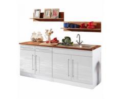 Küchenzeile »Keitum«, HELD MÖBEL, ohne Elektrogeräte, Breite 200 cm, weiß, Weiß