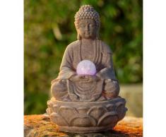Zimmerbrunnen Buddha »Lotus«, natur, beige