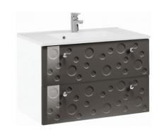 Held Möbel Waschtisch »Bubb«, grau, weiß/grau Hochglanz