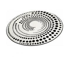 Teppich, rund, Esprit, »Eddy«, Höhe 13 mm, maschinell erstellt, weiß, weiss