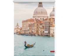 Seitenzugrollo, Lichtblick, »Venedig Canal Grande«, Klemmfix, Kettenzug, Lichtschutz, Fixmaß, ohne Bohren, blau, blau
