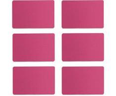 Zeller Present Platzset, Filz, in 6 verschiedenen Farben lieferbar, 30 x 45 cm (6tlg.), rosa, Unisex, pink