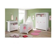 Komplett Babyzimmer »Trend« Babybett + Wickelkommode + Kleiderschrank, (3-tlg.) in weiß, weiß, weiß matt