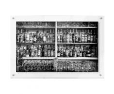 Premium collection by Home affaire Acrylglasbild »Klein - The Classic Bar«, 118/48 cm, grau, grau
