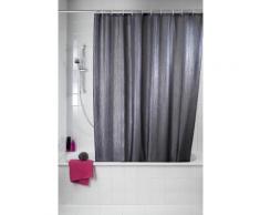 WENKO Duschvorhang Deluxe, mit glänzenden Applikationen, 180/200 cm, waschbar, grau, Grau