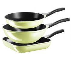 Bratpfannen-Set, Aluguss mit Keramik-Antihaftbeschichtung, »Telesto«, Domestic Topselection, grün, Unisex, hellgrün