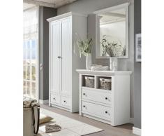Home affaire 3-tlg. Garderoben-Set «California», Set aus: Kommode, Garderobenschrank und Spiegel, weiß, weiß