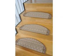 Stufenmatte, »Elvet«, Living Line, stufenförmig, Höhe 6 mm, maschinell getuftet, braun, Unisex, braun