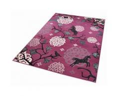 Kinder-Teppich, Zala Living, »Einhorn 1«, Höhe 9 mm, gewebt, lila, violett