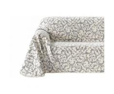 heine home Sofaüberwurf, weiß, Unisex, creme/grau