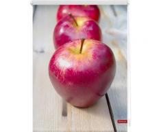 Seitenzugrollo, Lichtblick, »Apfel«, Klemmfix, Kettenzug, Lichtschutz, Fixmaß, ohne Bohren, rot, rot