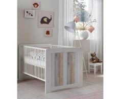 Babybett passend zur Babymöbel Serie »Amrum«, in Pinie NB Struktur weiß/Holzplankenoptik, natur, Pinie NB Struktur weiß/Holzplankenoptik
