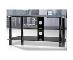 TV-Rack, Just Racks, Breite 105 cm, schwarz, Schwarzglas