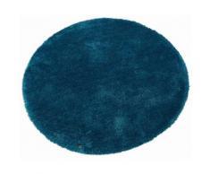 Hochflor-Teppich, »Soft«, Tom Tailor, rund, Höhe 35 mm, handgetuftet, blau, Unisex, türkis