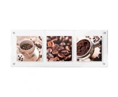 Premium collection by Home affaire Acrylglasbild »Coffee Set 02«, 78/28 cm, braun, braun