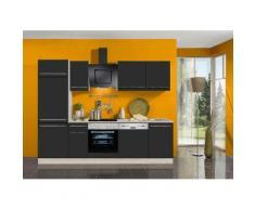OPTIFIT Küchenzeile ohne E-Geräte »Bern«, Breite 270 cm, schwarz, lava Lack-Optik/akaziefarben
