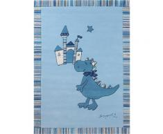 Kinder-Teppich, Esprit, »Dragon & Castle«, Höhe 10 mm, handgetuftet, blau, blau