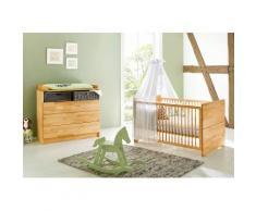 Pinolino Babyzimmer Sparset »Natura« breit (2-tlg.), natur, buche vollmassiv, geölt