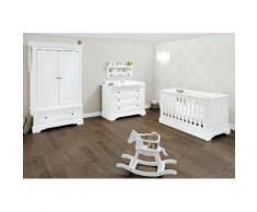 Pinolino Babyzimmer Set, Kinderzimmer »Emilia« breit (3-tlg.), weiß, weiß
