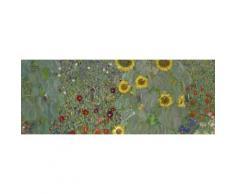 Home affaire Schlüsselbrett »Klimt, G.: Garten mit Sonnenblumen«, 40/14,8 cm, grün, grün