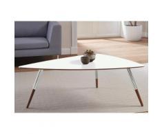 andas Design Couchtisch »stick« mit Chromdetail an den Beinen, braun, walnut Laminat