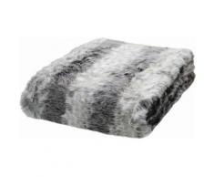 Wohndecke, Tom Tailor, »Fake Fur«, in Felloptik, grau, grau